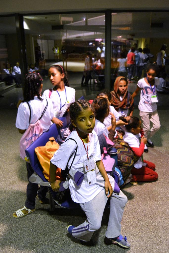 recogida niños saharauis